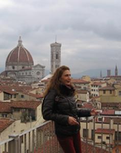 Гид по Флоренции Елизавета Гаврилина за работой