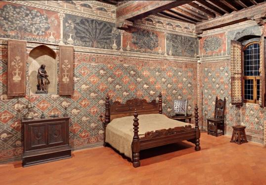 Одна из спален в Палаццо Даванцати