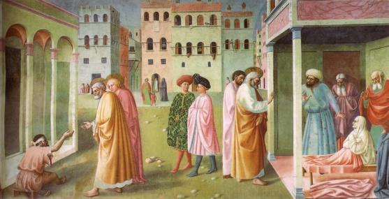 Одна из фресок Капеллы Бранкаччи